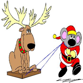 Christmas mouse and reindeer